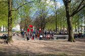 Children playground in Hofgarten park in Bonn — Stock Photo