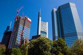 небоскребы в франкфурт — Стоковое фото