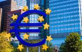 Famous Big Euro Sign — Stock Photo