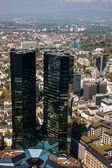 Skyskrapor i frankfurt — Stockfoto
