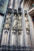 Detail of st lamberts church — Stockfoto