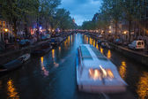 Canal in Amsterdam — 图库照片