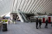Futuristic Liege-Guillemins railway station — Stock Photo