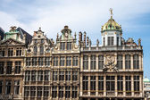 Detail of houses on main square in Brussels — Foto de Stock
