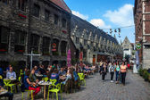 Tourists in city center of Gent — Stock Photo