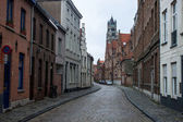 Traditional brick houses in Bruges — Foto Stock