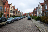 Traditional brick houses in Bruges — 图库照片