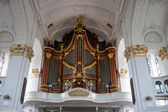 Organ in St. Michaelis church — Stok fotoğraf