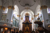 Interior of St. Michaelis church in Hamburg — 图库照片