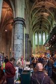 Igreja convertida em uma livraria — Fotografia Stock