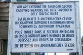 Sign at Checkpoint Charlie — Stock Photo