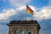 Tower with German flag — Stock Photo