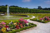 Garden of the chateau in Bruhl — Stock Photo