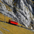 Mountain cogged railway — Stock Photo