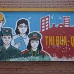 Постер, плакат: Communist propaganda in Hue Vietnam