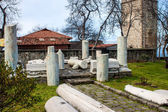 Ancient ruins at premises of Hagia Sophia church — Stock Photo