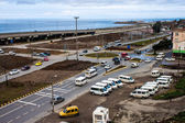 Traffic on a coastal road in Trabzon — 图库照片