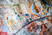 Frescoes in the church — Stock Photo