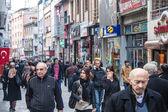 People walk on a pedestrian zone in Trabzon — Foto de Stock