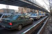 Traffic on a street in Tehran — Stok fotoğraf