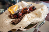 kabab with flat bread — Stock Photo
