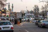 Traffic on Tarjish square  in Tehran — Foto de Stock