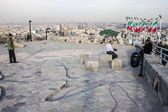 People at a viewpoint in Mashhad — Foto de Stock