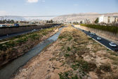 River in city Shiraz — Stock Photo