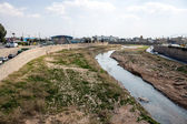 River in city Shiraz — Stock Photo