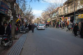 Street traffic in Shiraz — Stock Photo