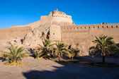 Fortification walls of ancient citadel of Bam — Stock Photo