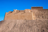 Fortification walls of ancient citadel Bam — Stock Photo