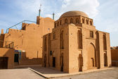 One of traditional adobe buildings in Yazd — Foto de Stock