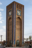 Clock tower in Yazd — Stock Photo