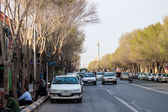 Street traffic in Yazd — Stock Photo
