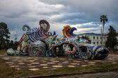 バトゥミにおける近代建築のビュー — ストック写真