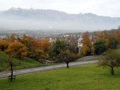 Aerial view of Vaduz — Stock Photo
