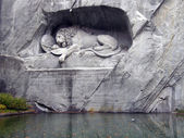 Lucerne: dying lion monument — Stock Photo