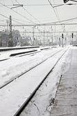 冬の駅 — ストック写真