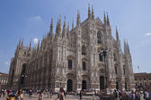 Gothic cathedral in Milano — Stock Photo