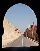 Road between walls of a palace — Stock Photo