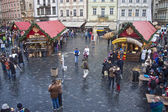 Christmas market on Old Town Square — Stock Photo
