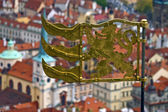 Weather vane on a St. Vitus cathedral — Stock Photo