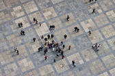 Aerial view of the third courtyard of Prague castle — Stock Photo