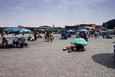 Jema el Fna Square in Marrakesh — Stock Photo
