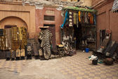 Shop with souvenirs in Marrakesh — Stock Photo