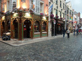 Temple Bar quarter  in Dublin — Stock Photo