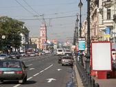 уличное движение в санкт-петербурге — Стоковое фото