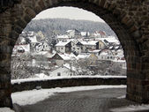 Winter view of  village — Stock Photo