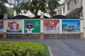 Communist propaganda in Saigon, Vietnam — Stock Photo